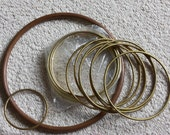 Brass Rings, 13 Five Inch, One 3 Inch, 9 Inch Plastic Hoop
