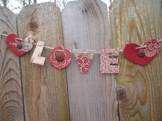 Valentine garland, banner, sign, baby shower decorations