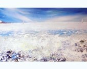 Painting - seascape - original acrylic art on canvas -  ocean - sea - blue- aqua - mint - white - australia-free shipping