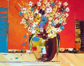ORIGINAL PAINTING Acrylic on Canvas  - Flowers for You - Flowers artwork- colourful art - from the land down under with love - Ozzie -
