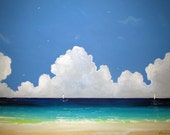 Original Painting - amazing beach - blue & white - australian seascape -  Homedecor - Interior design - Art - Artist - Amazing