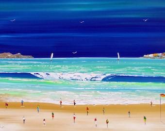 Australian Beach Painting - Original Art -  Seascape art - Ocean artwork - Sea Painting - wall art - home decor - on special