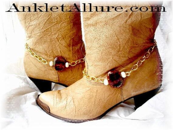 Elegant Southwestern Earth n Sky Gold Boot Chains Western Jewelry Biker Bracelets