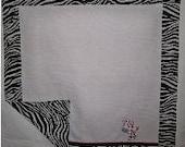 Custom order for DeVoogd1,  Three pc Zebra Gift Set of Blankets and Burp Towels