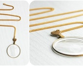 Antique Eye of the Observer - Monocle Necklace