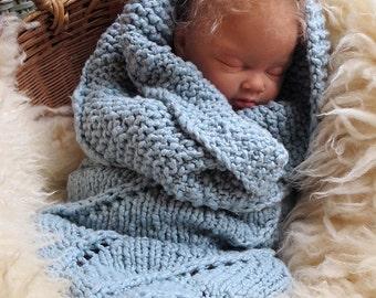 Organic Baby Cocoon in Custom Pastel Colors