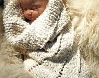 Organic Baby Newborn Cocoon Cotton Bunting, The Baby Helix