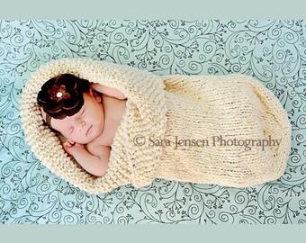 Natural Baby Cocoon Bunting,  Organic