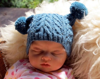 Cabled Knit Cap for Baby