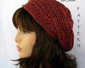 Crochet PATTERN /  Brick House Slouchy Hat / Adults and Teens, Permission to sell finished items