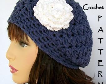 Crochet Hat Pattern, Slouchy Hat Pattern,  Stratford Textured Cloche