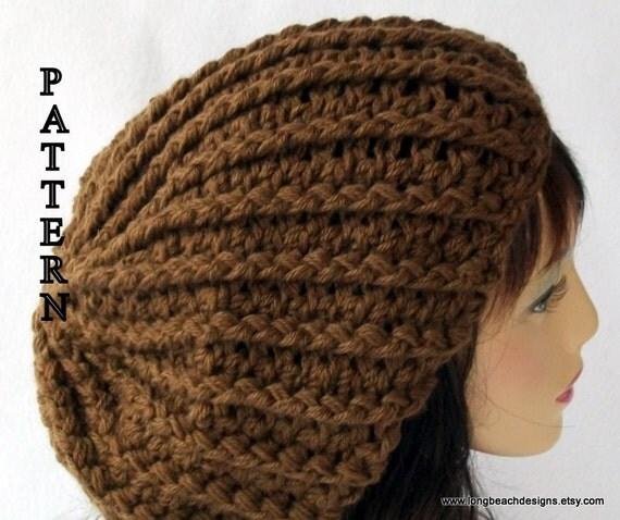 crochet slouchy beanie hat pattern Boston Avenue Slouchy Hat