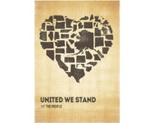 United We Stand - Vintage -13X19 Poster - FREE US SHIPPING