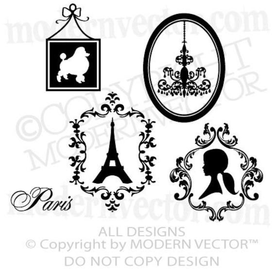 Eiffel Tower Silhouette Drawing Add Paris