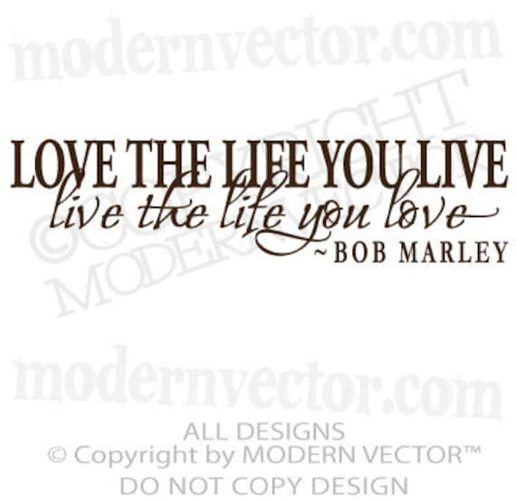 Love Quotes About Life: BOB MARLEY Quote Vinyl Wall Decal Inspirational By