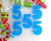 BIRTHDAY CELEBRATION - 5 Number Kid Soap Favors - Birthday Party Favor- Say it with Soap Names & Initials - Choose your Numbers and Letters