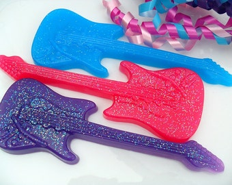 25 GUITAR SOAP FAVORS - Guitar Party Favor, Guitar Birthday Party Favor - Little Rock Star Baby Shower Favors - Pop Star Party