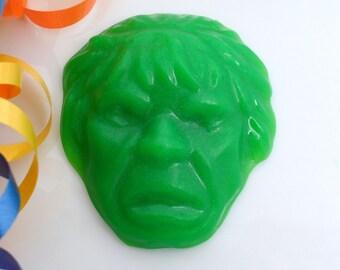 10 SUPERHERO SOAP FAVORS - Superhero Party Favor, Superhero Birthday Party, Superhero Baby Shower, Green Guy Superhero (Favor Tags Included)