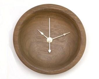Wood Wall Clock, Small Black Walnut Clock