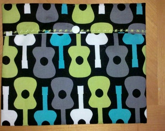 Reusable Sandwich Bag - Groovy Guitars - SECONDS!!!