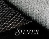 Silver Metallic Millinary Netting - Russian or French Net Birdcage Material, Half or Full 1 Yard