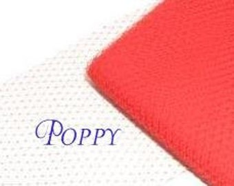Red Veil Netting - Poppy or Scarlet Russian or French Net Birdcage Material, Half or Full 1 Yard