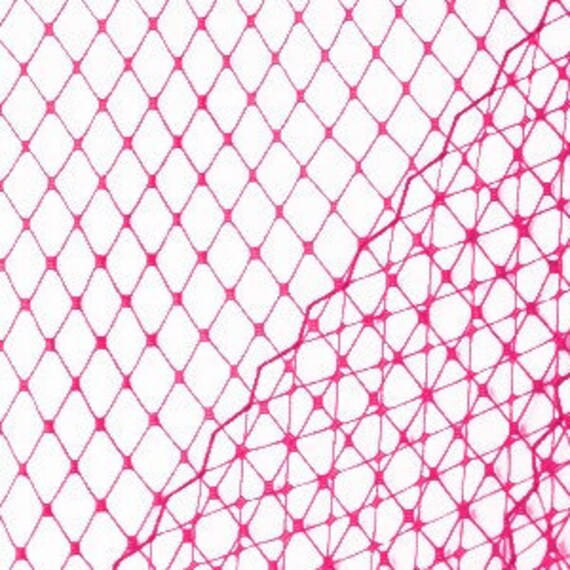 Magenta Pink Veil Netting - Russian or French Net Birdcage Material, 1 Yard