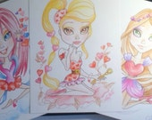 Love Greeting Card Set of 6 Cards Big Eye Fantasy Art