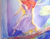 Moonlight Fairy Art Print 11 x 14