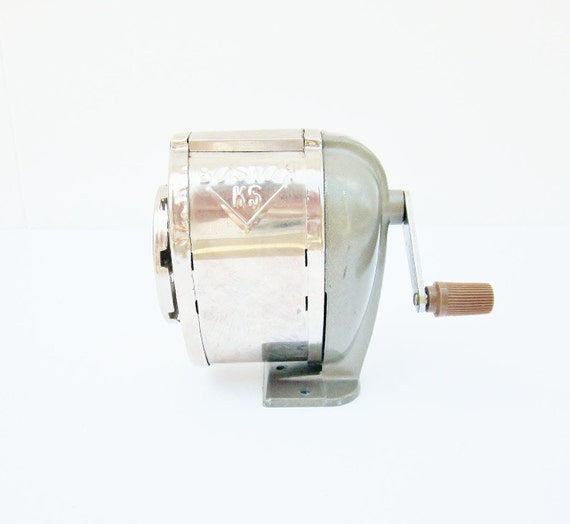 Pencil Sharpener Boston KS Vintage Office School Institutional Industrial