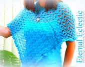 Blue Poncho, Capelette, Scarf. Lightweight and soft. Always Perfect.