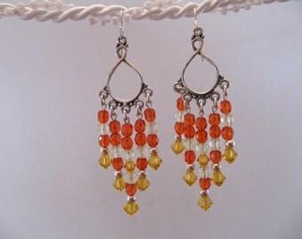 Sunflower Chandelier Earrings