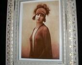 Flapper Girl Vintage Photo Print Framed in Vintage style Frame