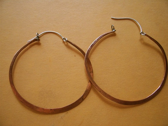 Copper Hoops