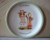 Vintage Holly Hobbie Collectors Edition True Friend Plate