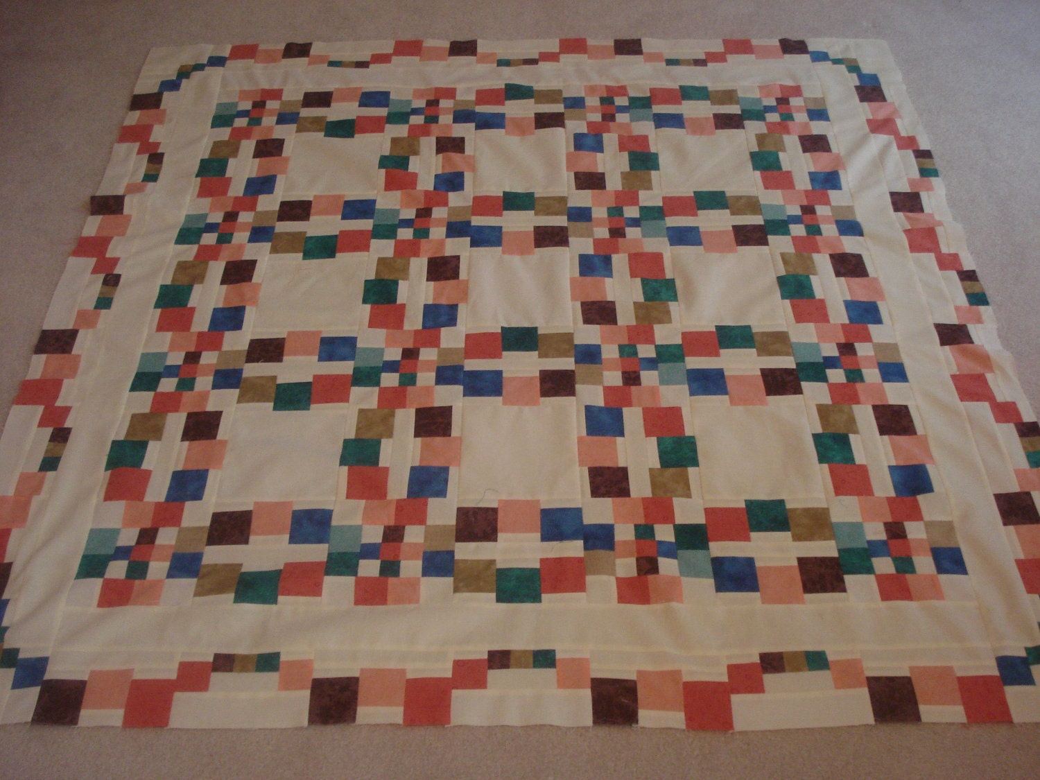 Monet's Wedding Ring Quilt Quilt Top Only