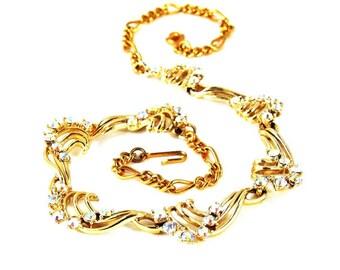 Vintage STAR Rhinestone Necklace Aurora Borealis Signed 1950s Jewelry