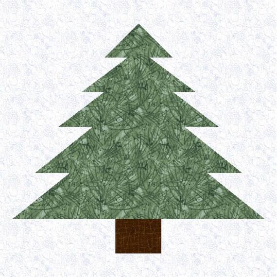 Pine Tree Quilt Block Pattern Multi Size Pdf