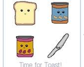 PDF Kawaii Toast and Friends