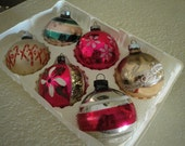 Six Vintage Ornaments