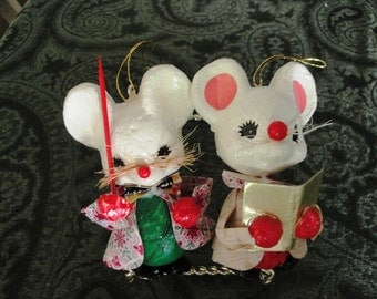 Two Mouse Ornaments