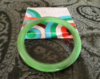 Green  Bangle Bracelet - Avon