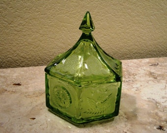 Gorgeous Green Candy Dish