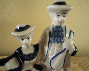 Blue and White Porcelain Couple