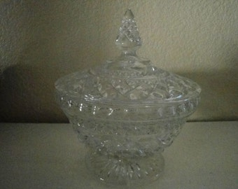Covered Glass Candy Dish