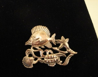 Silvertone Under the Sea Pin