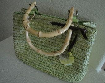 Green Woven Purse