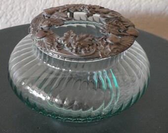 Vanity Dish with Metal Top