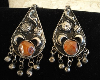 Pierced Earring with 2 Inch Drop