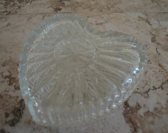 Glass Heart-shaped Trinket Box